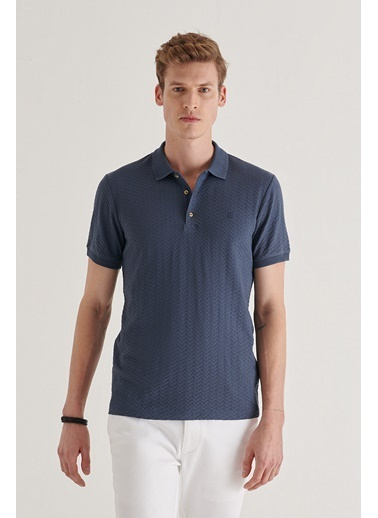 Avva Erkek  Polo Yaka Tişört A11Y1101 İndigo